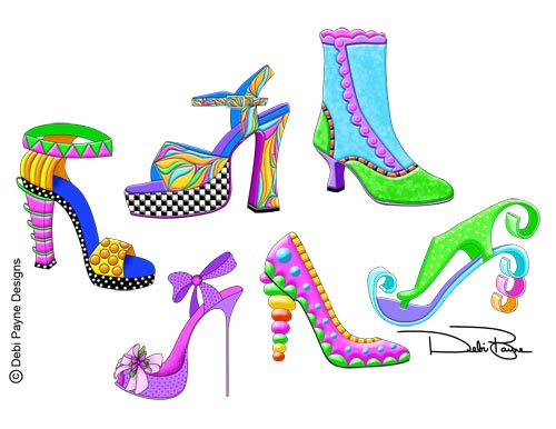 """""""Sassy Shoes"""" Collection by Debi Payne"""