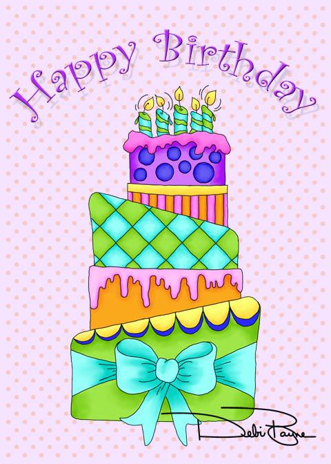 """Birthday Cake"" by Debi Payne of Debi Payne Designs"
