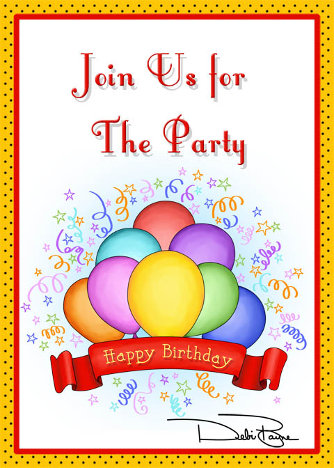 Banner&Balloons5x7Invite