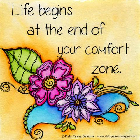 """Your Comfort Zone"" by Debi Payne of Debi Payne Designs"