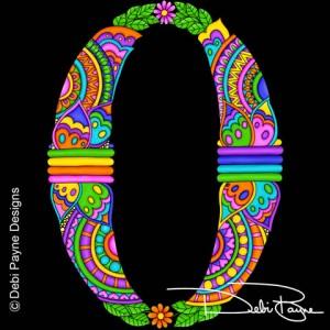 Alphadoodle Letter O by Debi Payne of Debi Payne Designs