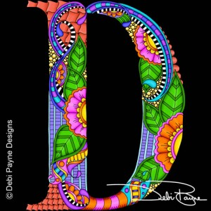 Alphdoodle Letter D by Debi Payne of Debi Payne Designs