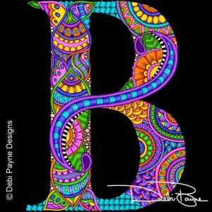 Alphadoodle Letter B by Debi Payne of Debi Payne Designs