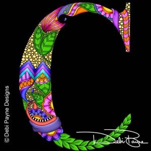 Alphadoodle Letter C by Debi Payne of Debi Payne Designs