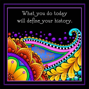 """Image: Close up of """"Define Your History"""" artwork"""