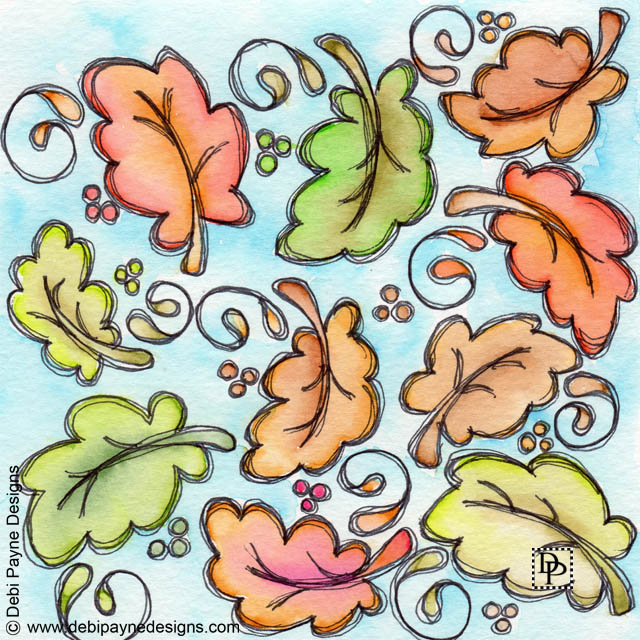 Image:  Ten dancing leaves
