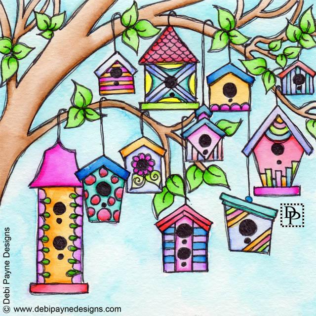 Image:  Whimsical Birdhouses