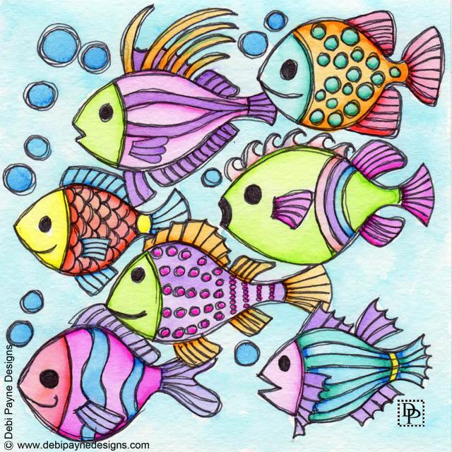 Image:  Seven Swimming Fish