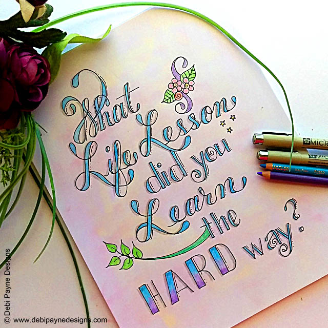 Image:  Hand Lettered Question
