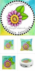 "Image: ""Delight"" Watercolor products collection banner"