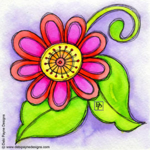 Image: Bliss Doodle Flower - Be Positive - Think Positive