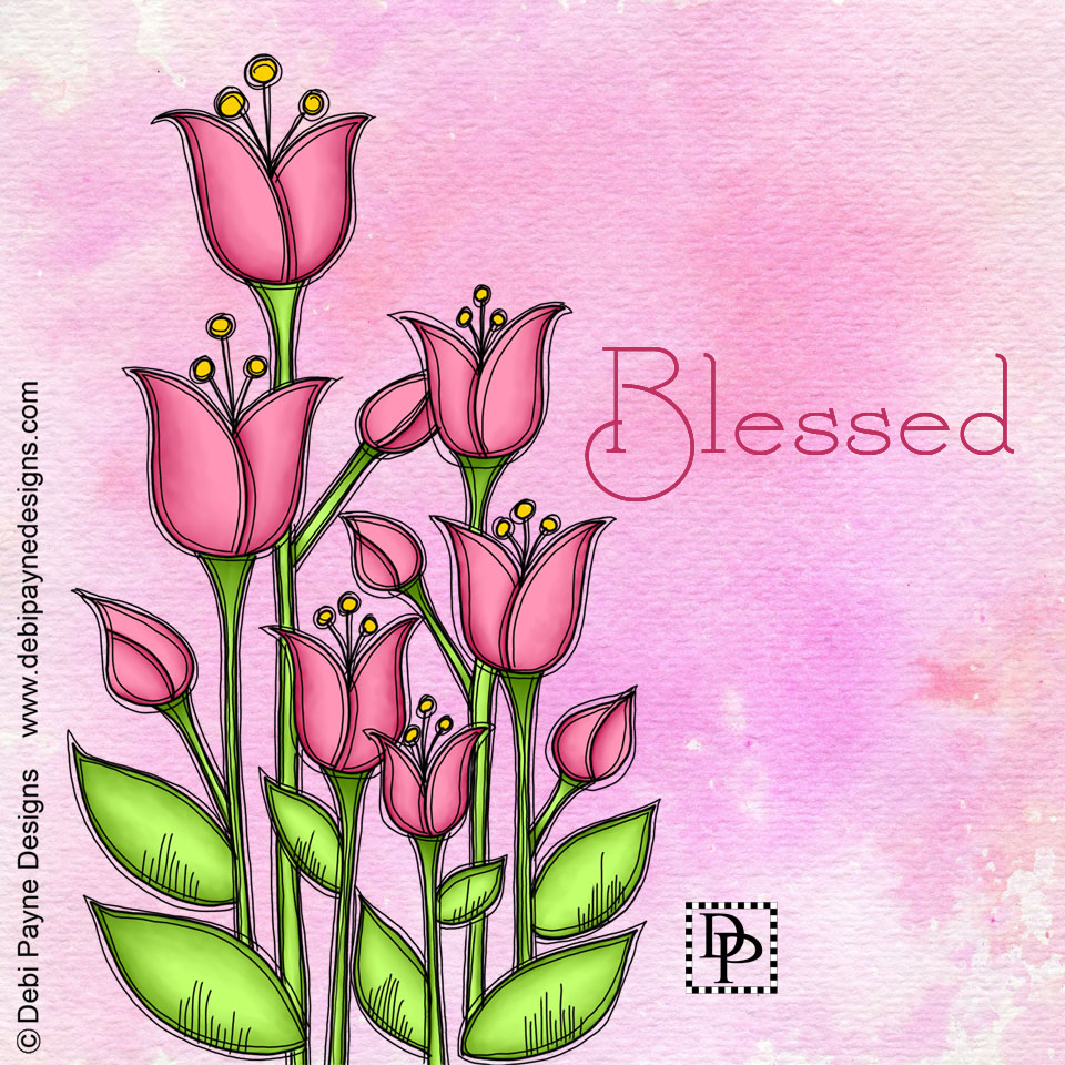 Image: Bless Doodle Flower