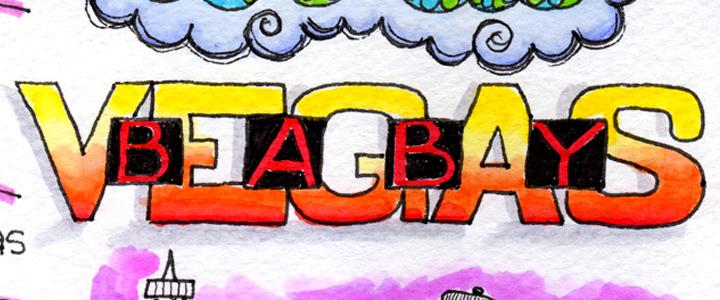Image:  Word art:  Vegas Baby
