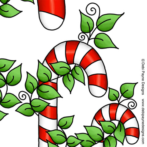 Image: Close up of Christmas Candy Canes