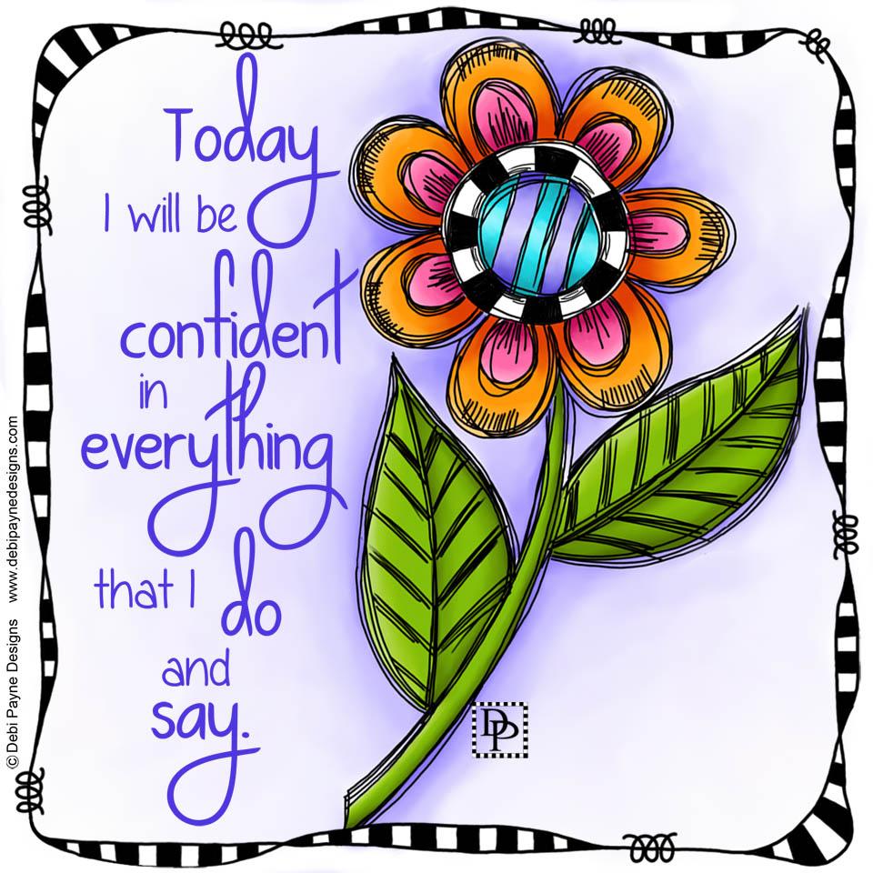 """Image:  """"Amazing"""" doodle flower affirmation"""
