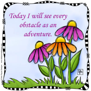 "Image - Affirmation featuring ""Beaming"" doodle flowers."