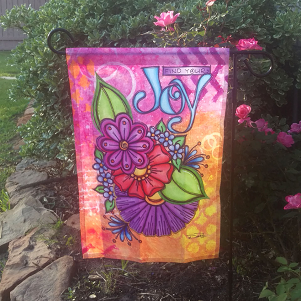 Image: Find Your Joy Garden Flag