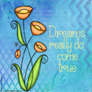 Image: Cherished Doodle Flowers with Mixed Media Background