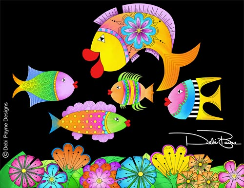 """""""Fishy Fish"""" Collection by Debi Payne"""