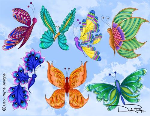 """Lunar Butterflies"" by Debi Payne"