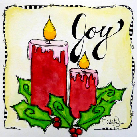 Holly & Candles