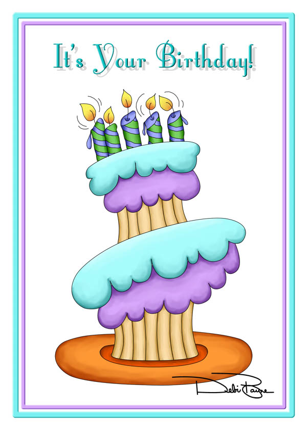 """Stacked Cupcake"" Birthday Card by Debi Payne Designs"