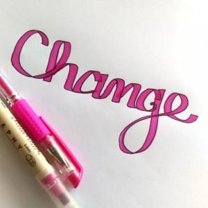"Image of written word ""Change"""