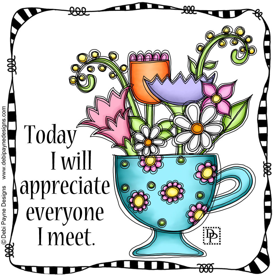 Image: Flowers in Cup Affirmation