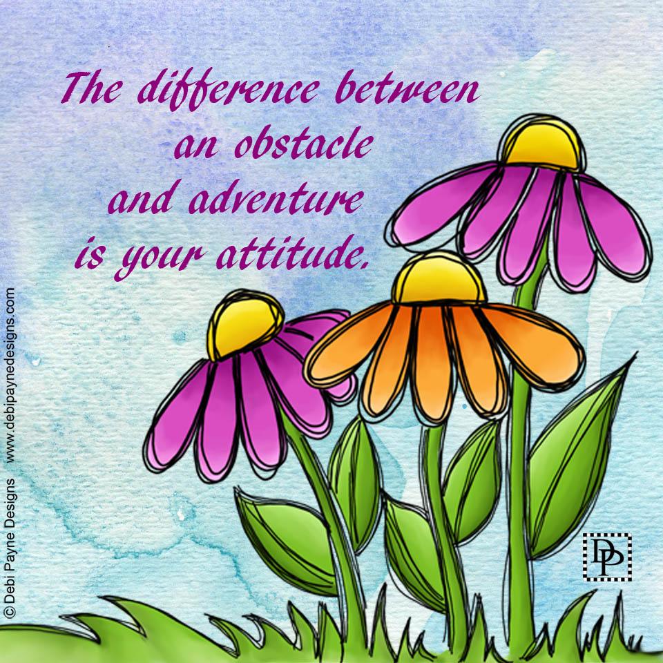 Image: Watercolor Doodle Flowers - Beaming