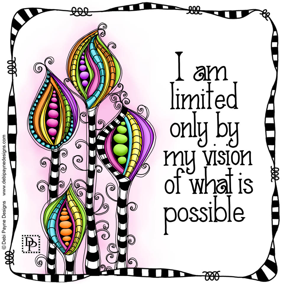 Image: Bright Doodles with Affirmation