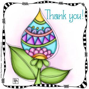 Image: Genuine doodle flower affirmation