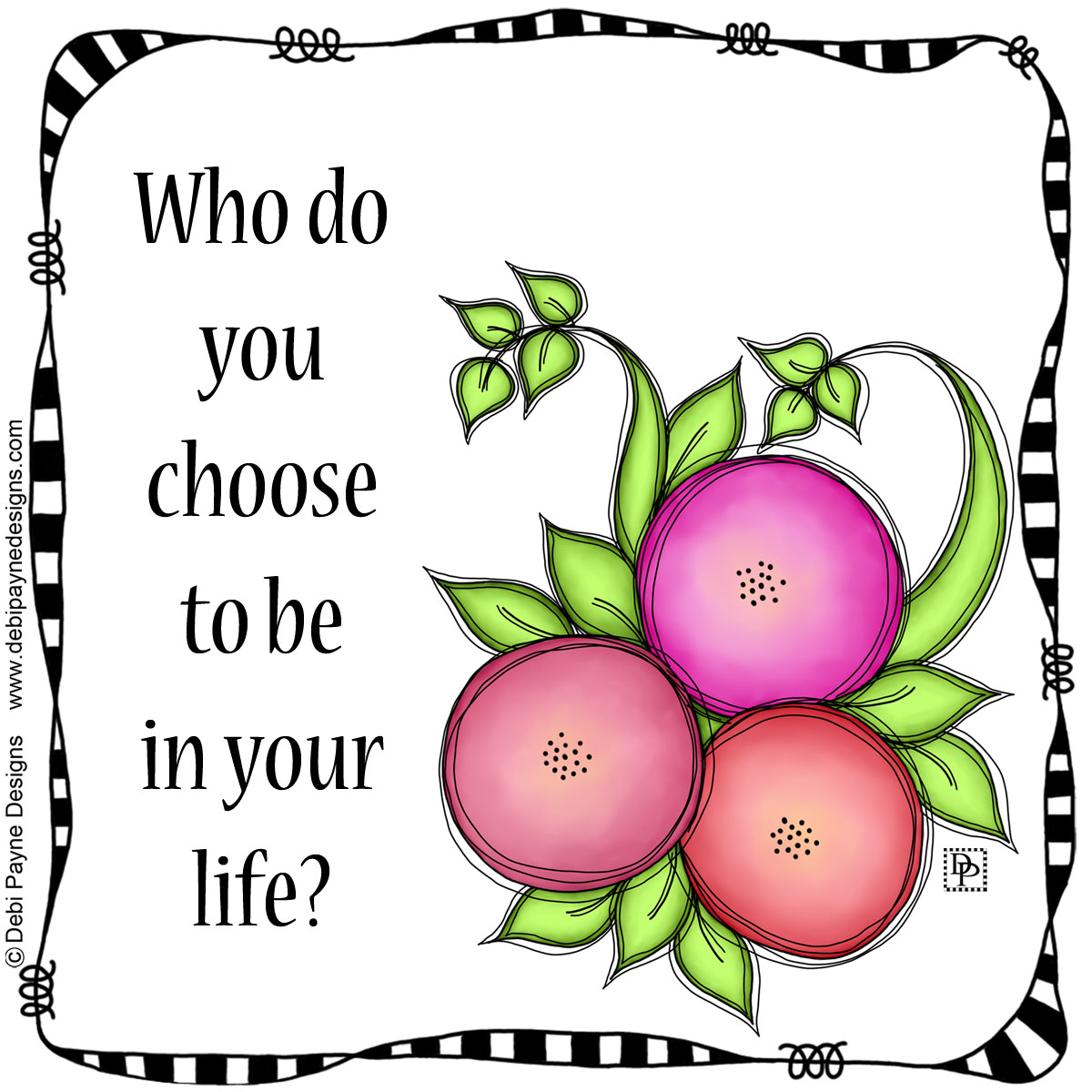 Image: Awake Doodle Flower with Life Question