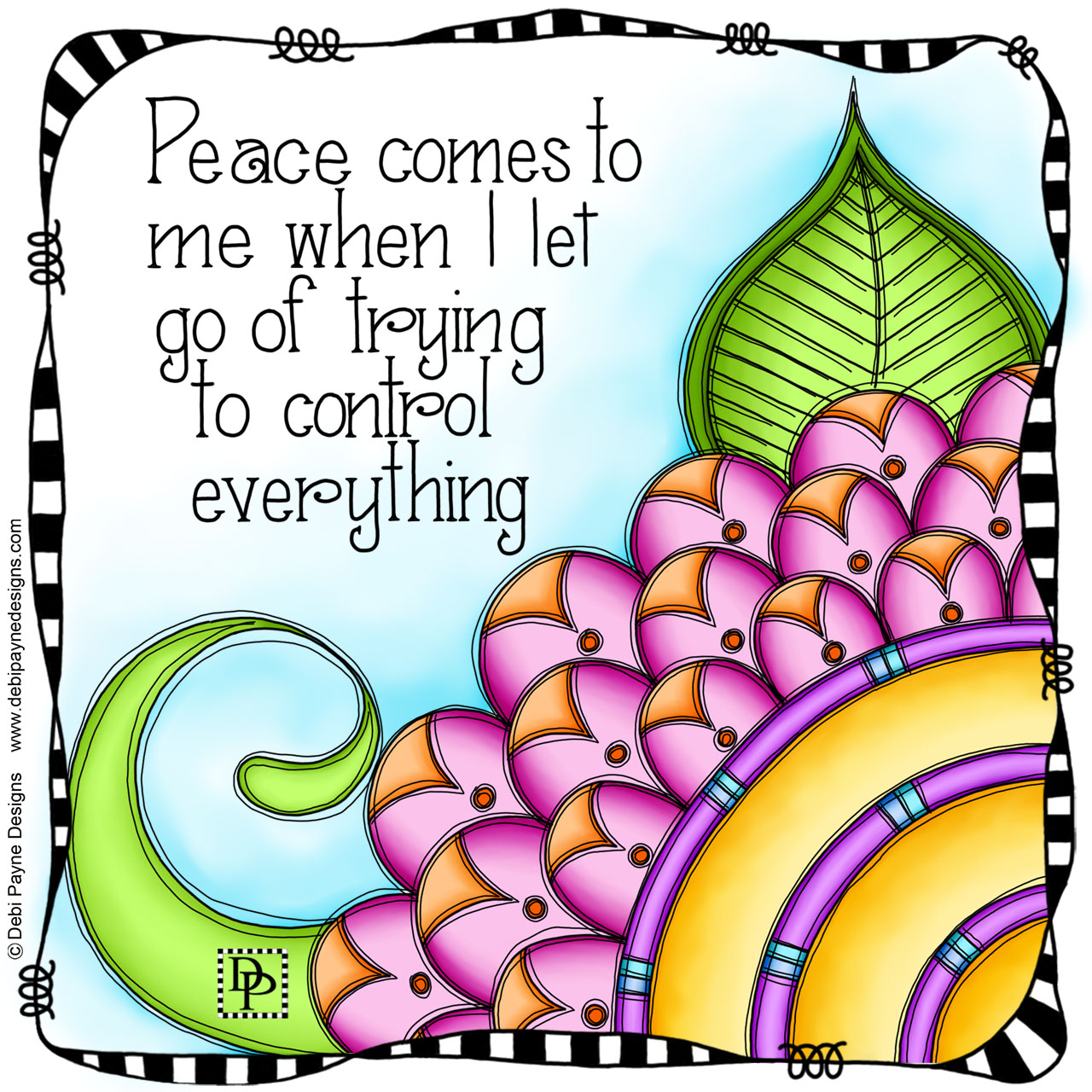 Image: Cheerful doodle flower affirmation