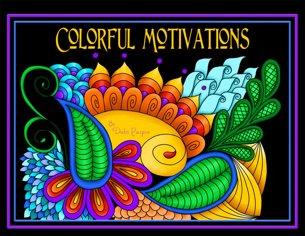 "Created from designs used in the Carnivale Fabric Collection, by Debi Payne Designs, ""Colorful Motivations"" is a calendar where each month features a bold, colorful design accented by a positive, motivational saying."