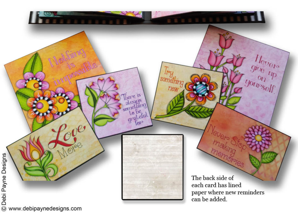Image of Debi Payne Designs Ephemera Cards from the Little Reminders Collection.
