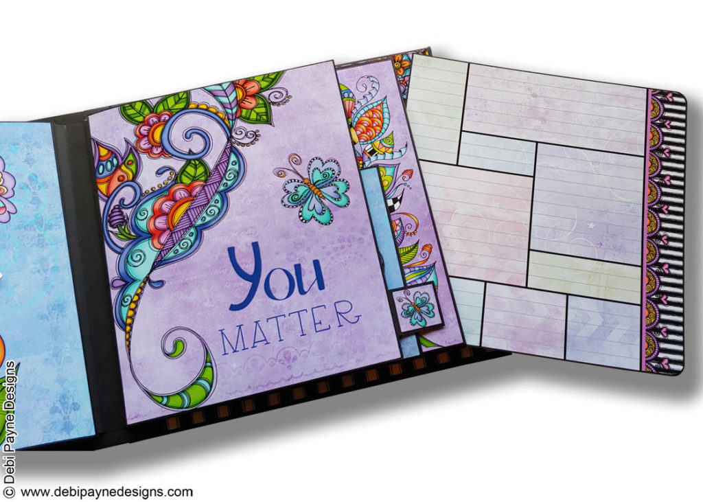 Insert page from the Little Reminders Mini Scrapbook Album by Debi Payne Designs.